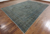 Vintage Green Overdyed Wool Area Rug 10 X 13 - Golden Nile