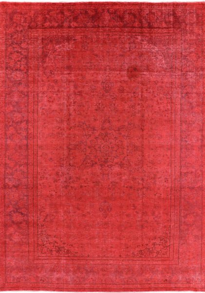 Overdyed Hand Knotted Area Rug 9 X 13 - Golden Nile