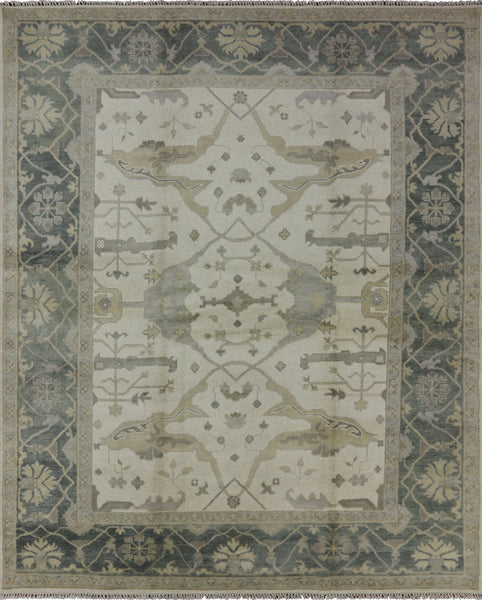 8 X 10 Oushak Hand Knotted Rug - Golden Nile