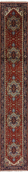 Serapi Hand Knotted Runner 3 X 16 Oriental Area Rug - Golden Nile