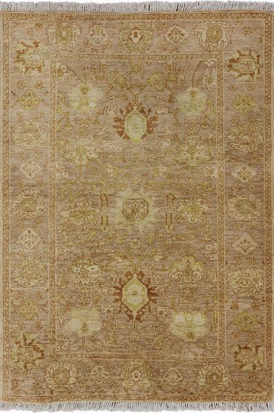Chobi Peshawar Wool Area Rug 4 X 6 - Golden Nile