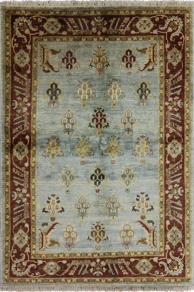 Peshawar Hand Knotted Area Rug 6 x 9 - Golden Nile
