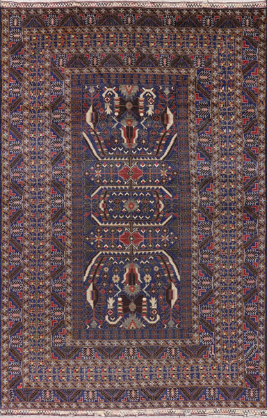 Tribal Afghan Oriental Area Rug 7 X 11 - Golden Nile