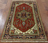 3 X 5 Hand Knotted Heriz Area Rug - Golden Nile