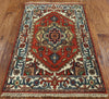3 X 4 Hand Knotted Wool Heriz Rug - Golden Nile