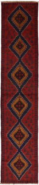 3 X 13 Red Balouch Oriental Wool On Wool Rug fw -  Golden Nile