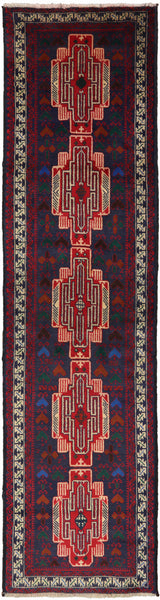Runner Baluch 3 X 10 Wool On Wool Rug - Golden Nile