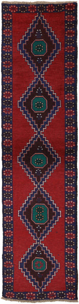 Oriental Wool On Wool 3 X 10 Balouch Rug - Golden Nile