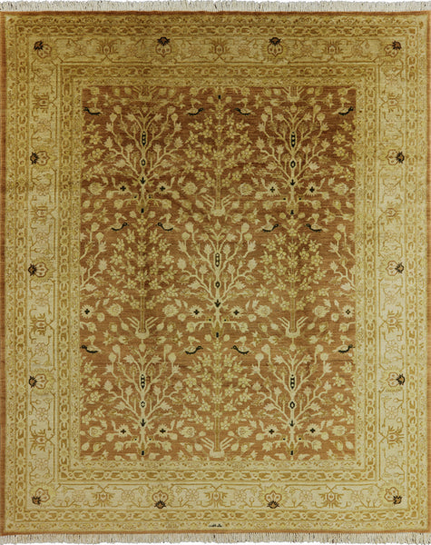 Tree Of Life Design Signed Peshawar Rug 8 X 10 - 7Rugs - 1