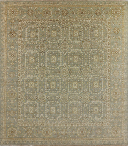 Hand Knotted Oriental Peshawar 12 x 13 Rug