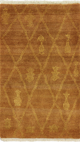 3 X 5 Gabbeh Hand Knotted Area Rug