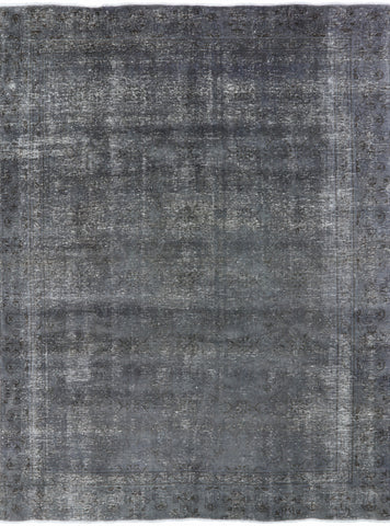 Overdyed 9 X 12 Hand Knotted Area Rug