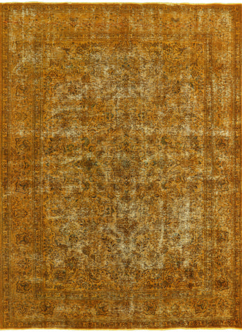 Hand Knotted Wool Persian Overdyed Area Rug 8 X 11