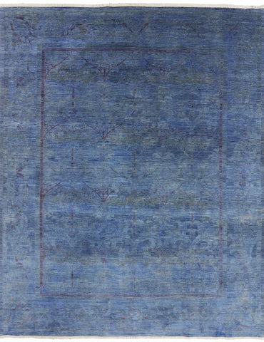 Blue Persian Overdyed Area Rug 8 X 10