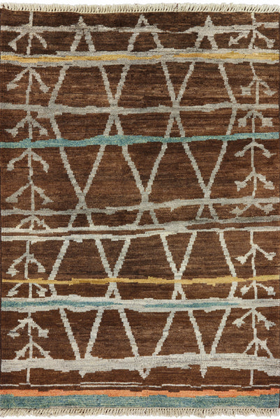 Tribal 4 X 6 Navajo Design Area Rug - Golden Nile