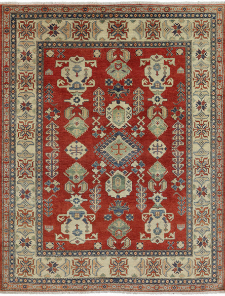 Oriental Tribal Design Kazak Area Rug 7 X 9 - Golden Nile