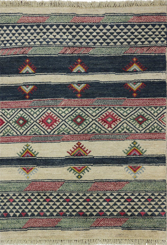 Moroccan Southwest Navajo Design Hand Made Rug 4 X 6