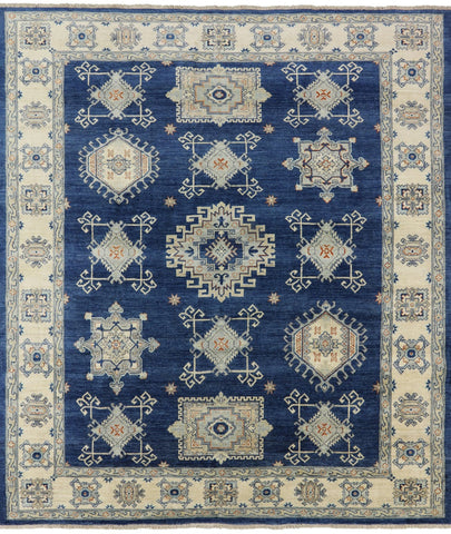 8' X 10' Oriental Peshawar Hand Knotted Wool Area Rug