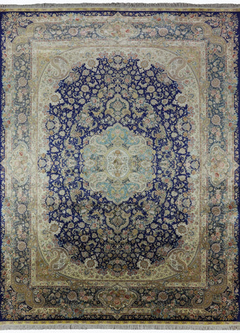 9' X 12' High End Signed Persian 100% Silk Handmade Rug