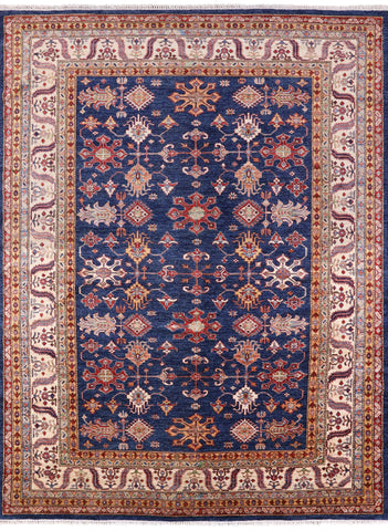 Super Kazak Hand Knotted Wool Area Rug - 8' 4