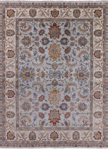 Peshawar Hand Knotted Wool Area Rug - 9' X 12'