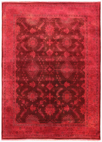 10' X 14' Handmade Persian Overdyed Area Rug