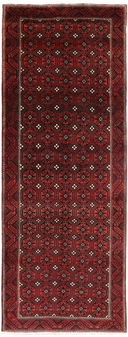 New Hand Knotted Persian Balouch Wool Rug 5' 4