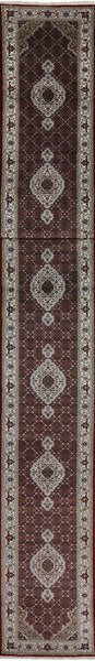 Tabriz Runner Wool & Silk Rug 3 X 23 - Golden Nile