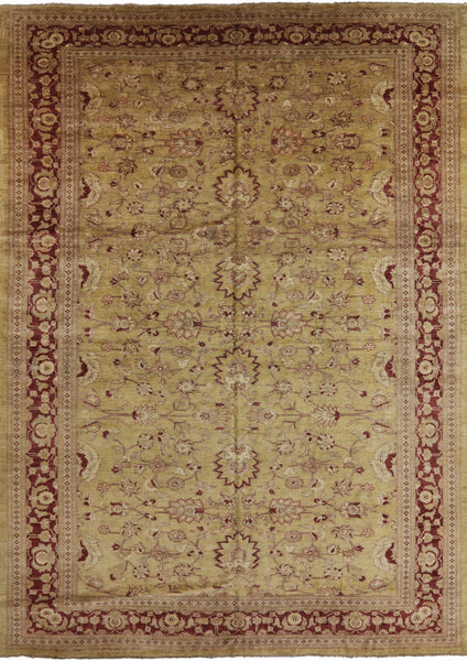 Antique Chobi Peshawar Brown Rug 12 X 17 - Golden Nile