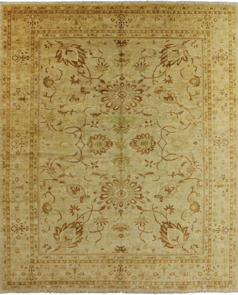 Antique Ivory 12 X 14 Chobi Peshawar Rug - Golden Nile
