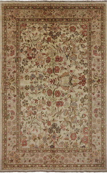 6 X 10 Peshawar Oriental Hand Knotted Rug - Golden Nile