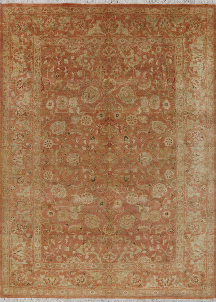 Oriental Peshawar Hand Knotted Rug 6 X 8 -  Golden Nile