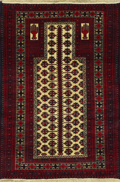 Wool On Wool Oriental Persian Rug 4 X 5 - Golden Nile