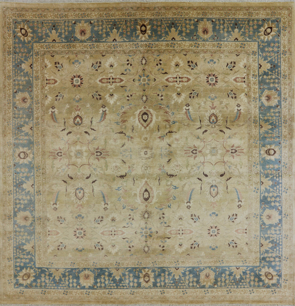 peshawar hand knotted ' square area rug  golden nile - oriental peshawar hand knotted ' square area rug  golden nile