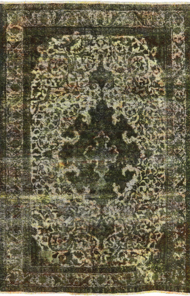 6 X 9 Persian Overdyed Oriental Rug - Golden Nile
