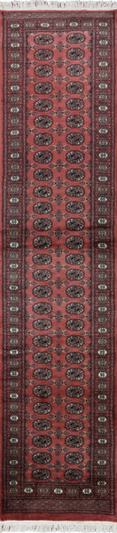 Pink Bokhara Tribal 3 X 12 Runner - Golden Nile
