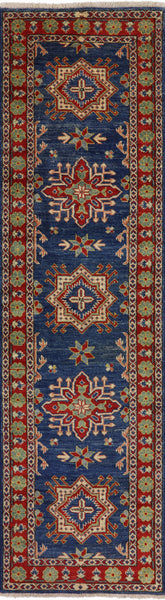 Hand Knotted Runner Kazak Rug 3 X 10 - Golden Nile