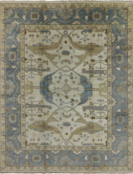 Oriental Hand Knotted Oushak Rug 8 X 10 - Golden Nile
