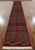 Red Tribal Wool Bokhara Runner 3 X 17 - Golden Nile