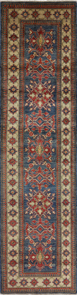 "Super Kazak Runner Rug - 2' 7"" X 10' 3"" - Golden Nile"