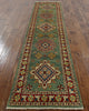 Green 3 X 11 Kazak Runner - Golden Nile
