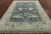 Oushak Oriental 8 X 10 Blue Rug - Golden Nile