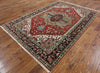 Oriental Red/Navy Serapi Rug 6 X 9 - Golden Nile