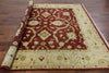 8' Square Chobi Peshawar Red/Ivory Rug - Golden Nile