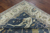 Blue Oriental Oushak 9 X 12 Rug - Golden Nile