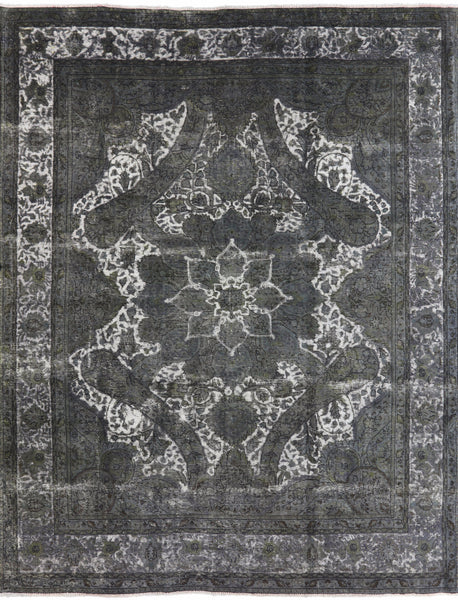 Overdyed Oriental Grey Rug 10 X 13 - Golden Nile