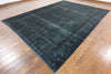 Navy Blue Over-Dyed 9 X 12 Rug - Golden Nile