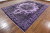 Over-dyed Purple 9 X 12 Rug - Golden Nile