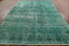 Over-dyed Green 9 X 12 Oriental Rug - Golden Nile