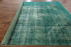 9 X 12 Green Oriental Overdyed Rug - Golden Nile